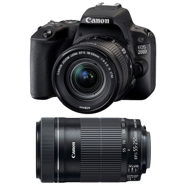 Canon EOS 200D kit (18-55mm + 55-250mm) EF-S IS STM