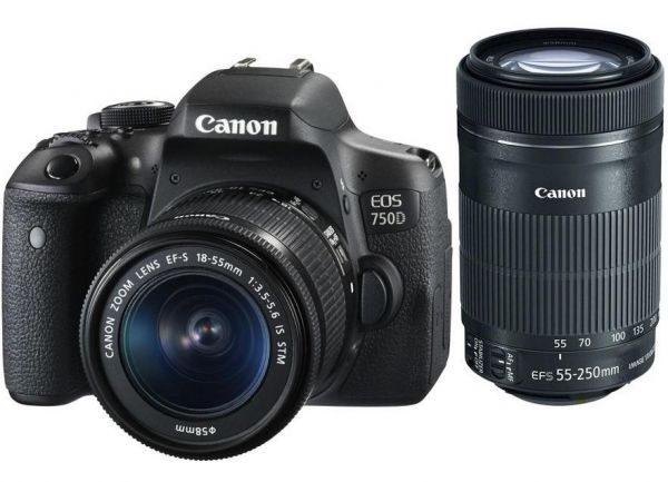 Canon EOS 750D kit (18-55mm + 55-250mm) IS STM