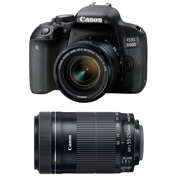Canon EOS 800D kit (18-55mm + 55-250mm) IS STM