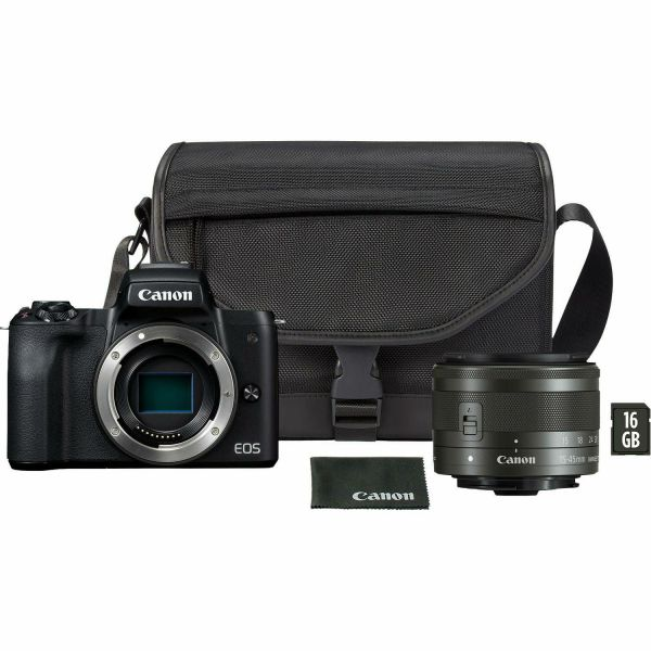 Canon EOS M50 Mark II kit (15-45mm) IS STM + SB130 + 16GB SD
