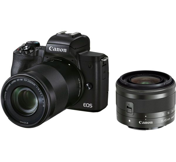 Canon EOS M50 Mark II kit (15-45mm + 55-200mm) IS STM