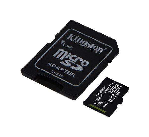 Kingston 128 GB microSDXC Class 10 UHS-I Canvas Select Plus + SD Adapter SDCS2/128GB