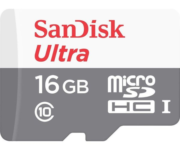 SanDisk 16 GB microSDHC UHS-I Ultra + SD adapter SDSQUNS-016G-GN3MA