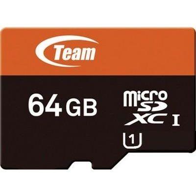 TEAM 64 GB microSDXC UHS-I + SD Adapter