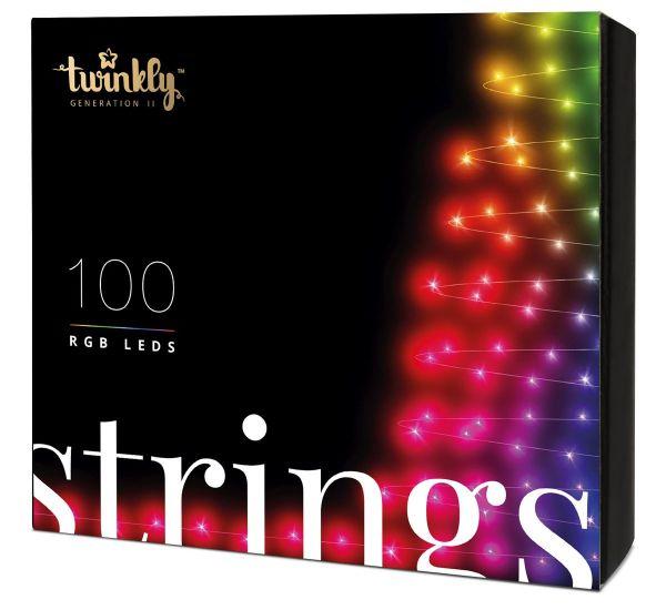 Twinkly Smart LED Strings RGB 100 BT+WiFi Gen II IP44 кабель черный (TWS100STP-BEU)