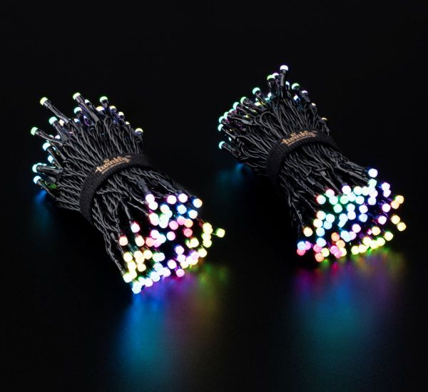 Twinkly Smart LED Strings RGBW 400 BT+WiFi Gen II IP44 кабель черный (TWS400SPP-BEU)