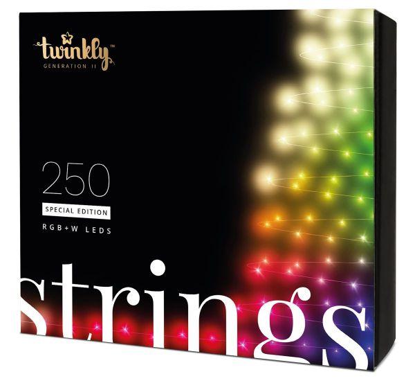 Twinkly Smart LED Strings RGBW 250 BT+WiFi Gen II IP44 кабель черный (TWS250SPP-BEU)