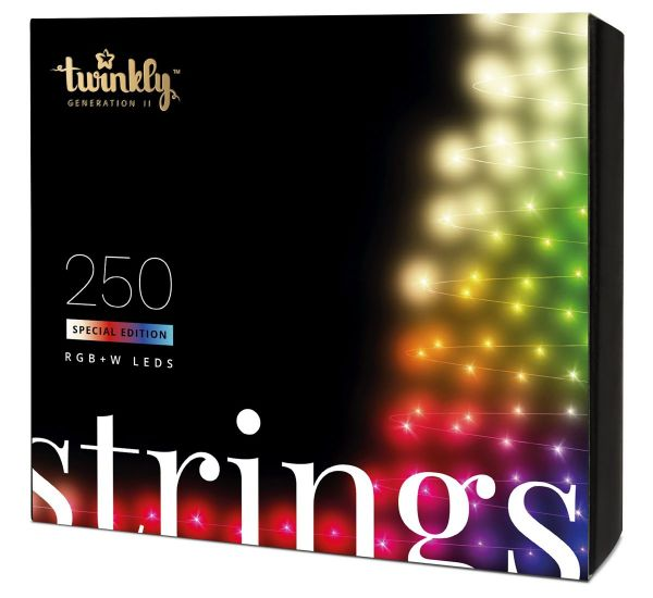 Twinkly Smart LED Strings RGBW 250 BT+WiFi Gen II IP44 кабель прозрачный (TWS250SPP-TEU)